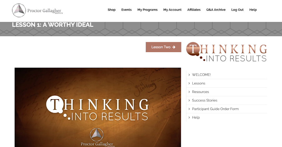 Thinking Into Results review